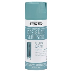 Shop Rust Oleum Inspire 12 Oz Vintage Teal Matte Spray Paint At