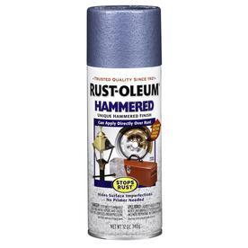 shop rust oleum hammered light blue indoor outdoor spray