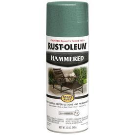 Rust-Oleum Stops Rust Stops Rust Verde Green Hammered Rust Resistant Enamel Spray Paint (Actual Net Contents: 12-oz)