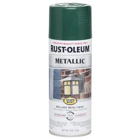 Shop Rust Oleum Stops Rust Metallic 11 Oz Racing Green Spray Paint At