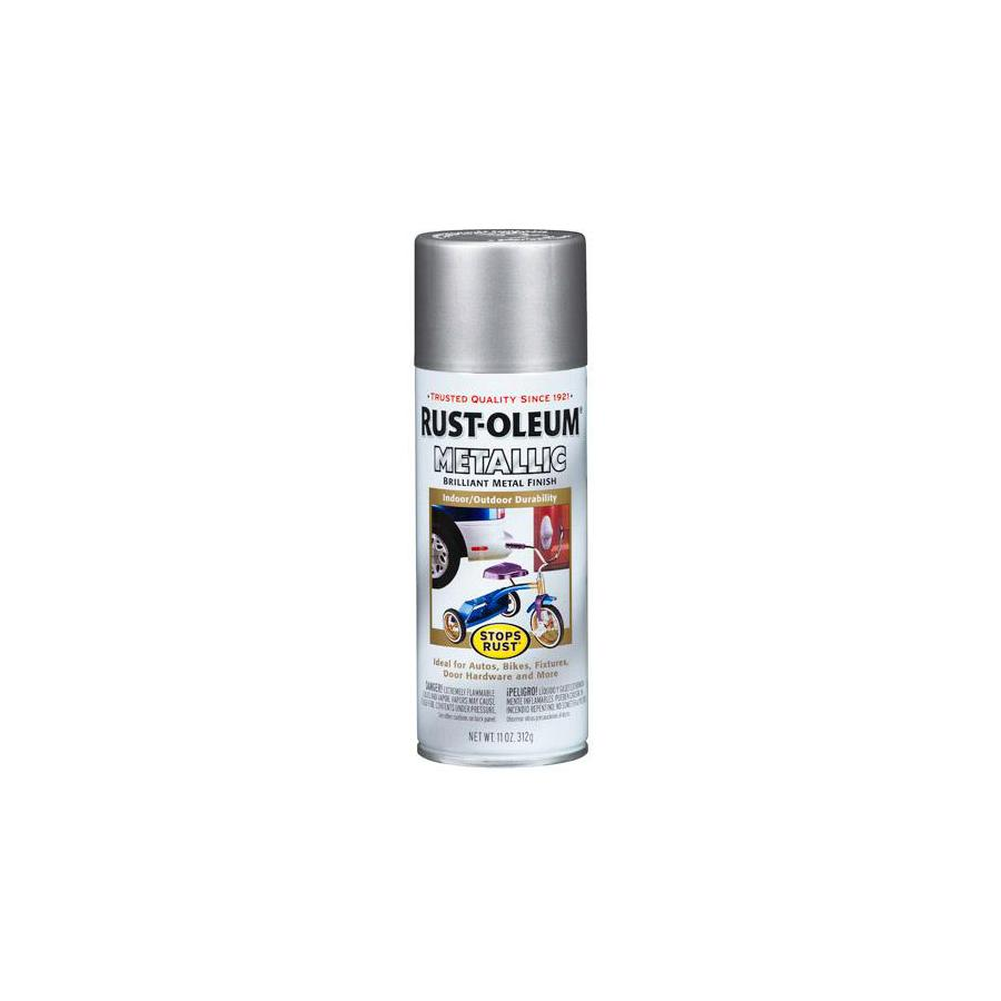 Shop Rust Oleum 11 Oz Silver Spray Paint At