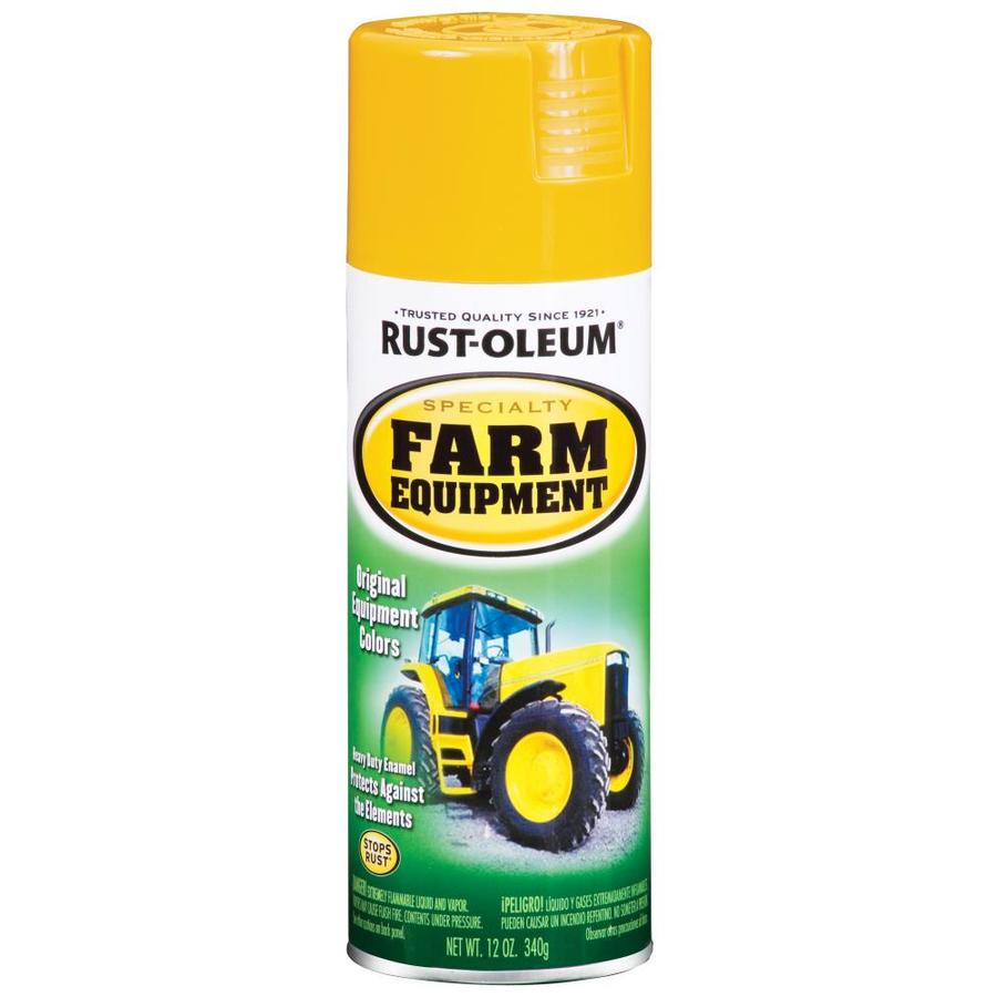 Shop Rust Oleum 12 Oz Caterpillar Yellow Gloss Spray Paint At