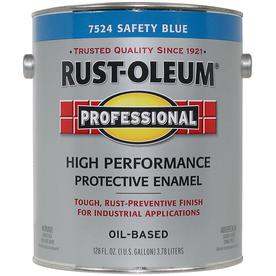 Rust-Oleum Gallon Interior/Exterior Gloss Safety Blue Paint and Primer in One