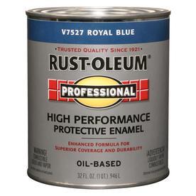 Rust-Oleum Professional High Performance Gloss Royal Blue Gloss Oil-Based Enamel Interior/Exterior Paint (Actual Net Contents: 32-fl oz)
