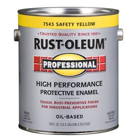 Rust-Oleum Professional High Performance Safety Yellow Gloss Oil-Based Enamel Interior/Exterior Paint (Actual Net Contents: 128-fl oz)