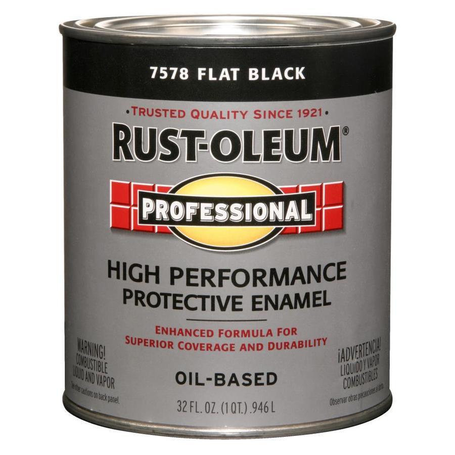 Shop rust oleum professional quart size container exterior for Exterior oil based paint