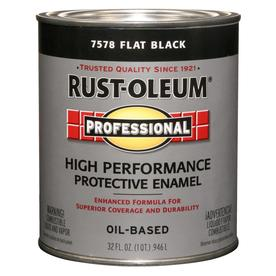 Rust-Oleum Quart Interior/Exterior Flat Black Paint