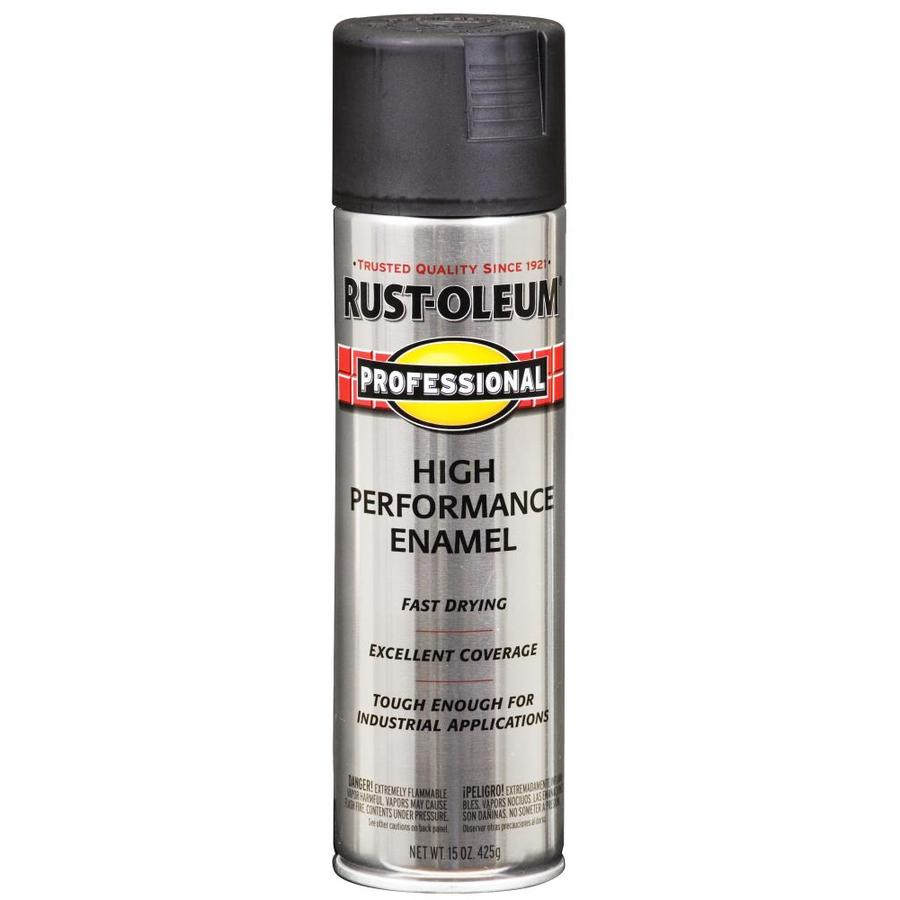Shop Rust Oleum 15 Oz Black Flat Spray Paint At