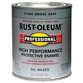 Shop rust oleum alkyd enamel stops rust smoke gray gloss oil based enamel interior exterior - Exterior alkyd paint decoration ...