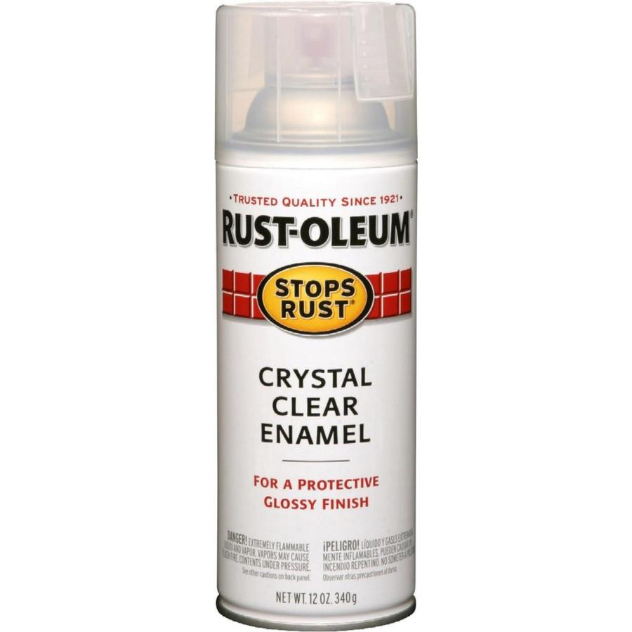shop rust oleum 12 oz crystal clear gloss spray paint at. Black Bedroom Furniture Sets. Home Design Ideas