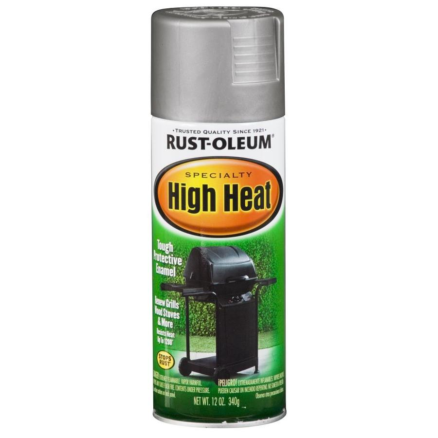 Shop Rust Oleum 12 Oz Silver Flat Spray Paint At