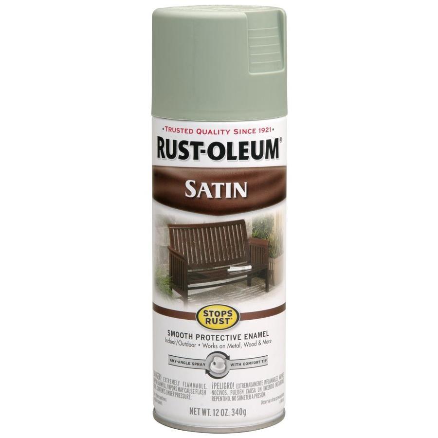 Shop Rust Oleum 12 Oz Sage Satin Spray Paint At