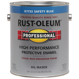 Rust-Oleum Professional Professional High Performance Safety Blue Gloss Oil-Based Enamel Interior/Exterior Paint (Actual Net Contents: 128-fl oz)