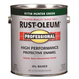Rust-Oleum Professional High Performance Green Gloss Oil-Based Enamel Interior/Exterior Paint (Actual Net Contents: 128-fl oz)