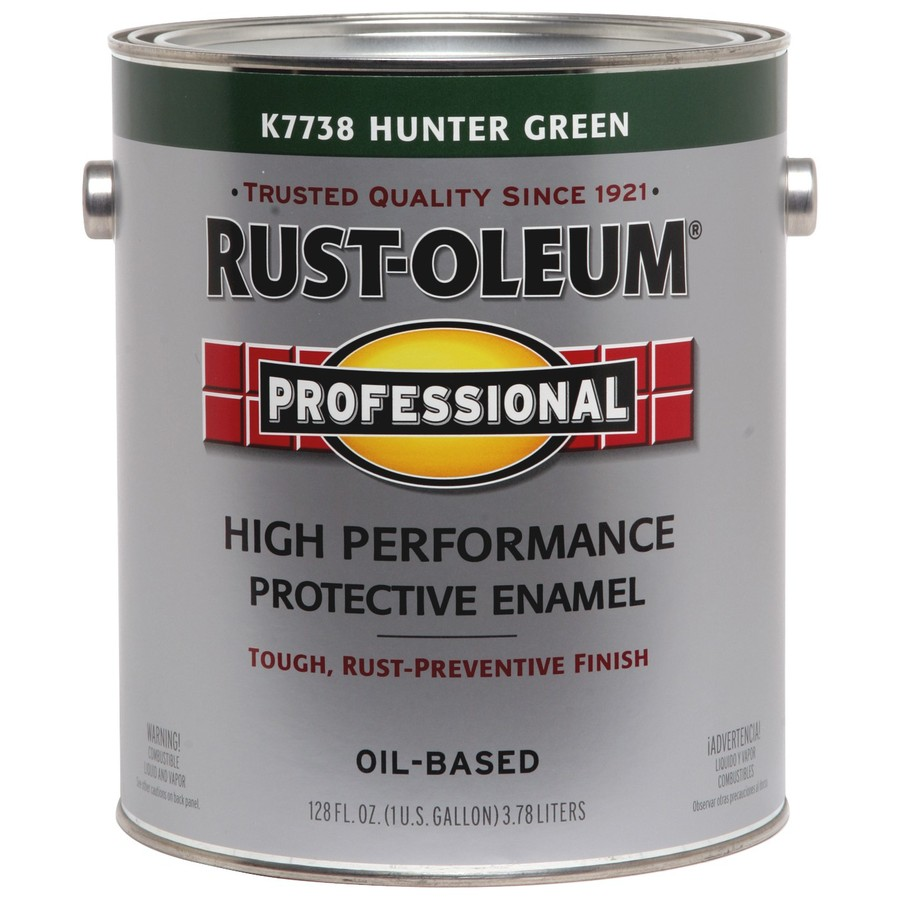 Shop rust oleum professional gallon size container exterior gloss hunter green oil base paint - Hunter green exterior paint paint ...