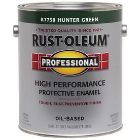 Rust-Oleum Professional High Performance Hunter Green Gloss Oil-Based Enamel Interior/Exterior Paint (Actual Net Contents: 128-fl oz)