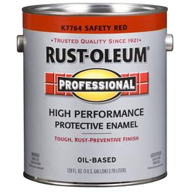 Rust-Oleum Professional High Performance Safety Red Gloss Oil-Based Enamel Interior/Exterior Paint (Actual Net Contents: 128-fl oz)