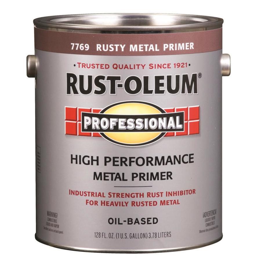 Shop rust oleum professional gallon size container exterior flat red oil base paint actual net - Best oil based exterior paint collection ...