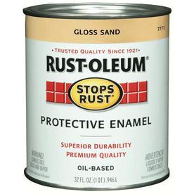 Shop rust oleum alkyd enamel stops rust sand gloss oil based enamel interior exterior paint - Exterior alkyd paint decoration ...
