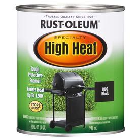 Rust-Oleum Quart Interior/Exterior Flat Black High Heat Paint