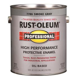 Rust-Oleum Professional High Performance Gray Gloss Oil-Based Enamel Interior/Exterior Paint (Actual Net Contents: 128-fl oz)