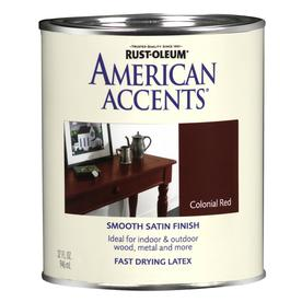Rust-Oleum American Accents Quart Interior/Exterior Satin Colonial Red Paint