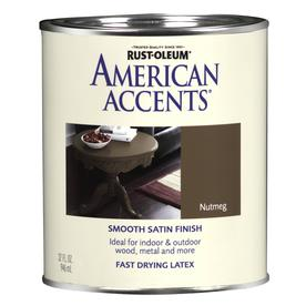 Rust-Oleum American Accents Quart Interior/Exterior Satin Nutmeg Paint