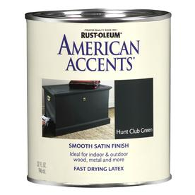 Rust-Oleum American Accents American Accents Hunt Club Green Satin Latex Interior/Exterior Paint (Actual Net Contents: 32-fl oz)