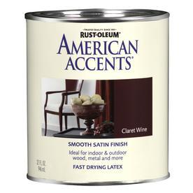 Rust-Oleum American Accents 1-Quart Exterior Satin Claret Wine Latex-Base Paint