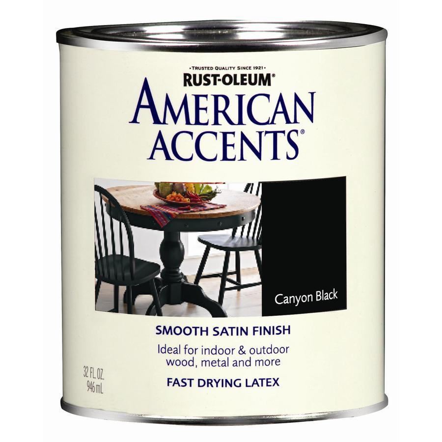 shop rust oleum american accents 1 quart exterior satin. Black Bedroom Furniture Sets. Home Design Ideas