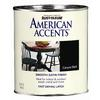 Rust-Oleum American Accents Quart Interior/Exterior Satin Canyon Black Paint