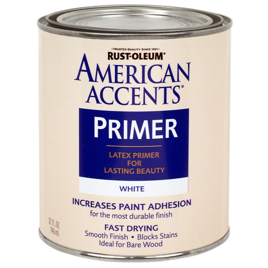 Shop rust oleum american accents 32 fl oz exterior flat for Exterior latex primer