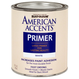 Rust-Oleum American Accents 32-fl oz Exterior Flat White Primer Latex-Base Paint
