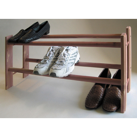 CedarAmerica Metal Cedar 2-Tier Shoe Rack