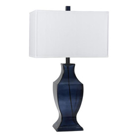 shop axis 26 in 3 way dark blue indoor table lamp with. Black Bedroom Furniture Sets. Home Design Ideas