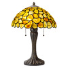 Axis 23.25-in 3-Way Antique Bronze Indoor Table Lamp with Glass Shade
