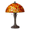 Axis 23-in 3-Way Antique Bronze Indoor Table Lamp with Glass Shade