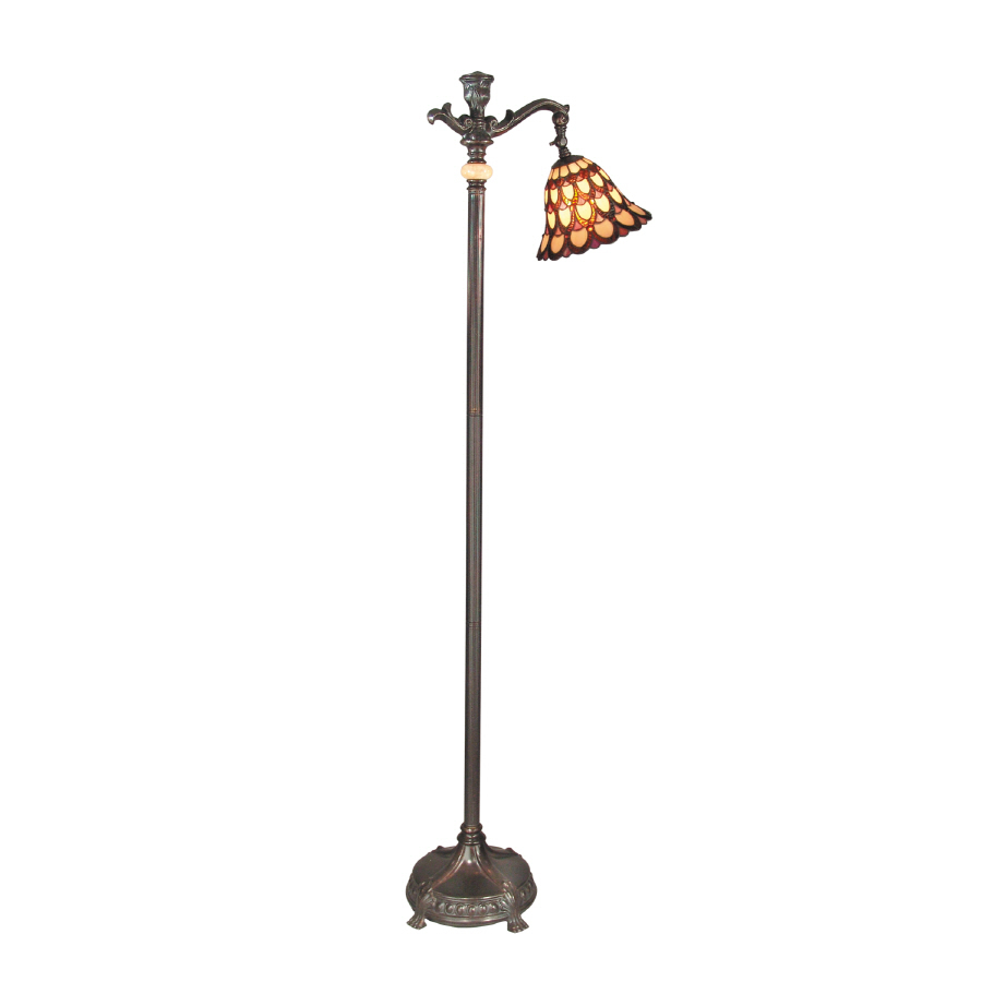 shop dale tiffany 62 in indoor floor lamp with shade at. Black Bedroom Furniture Sets. Home Design Ideas