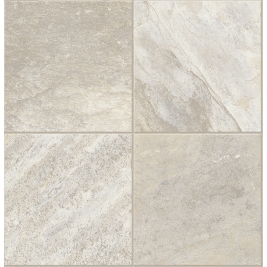 Shop congoleum 12 ft w whitewater rafting tile low gloss finish sheet vinyl at - Vinyl tile at lowes ...