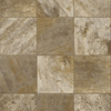 Congoleum 12-ft W Sandy Brown Tile Low-Gloss Finish Sheet Vinyl