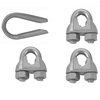 Covert 3/32-in to 1/8-in Zinc Plated Clamp Set