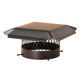 Shelter 10-in Black-Painted Galvanized Steel Chimney Cap