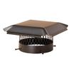 Shelter 12-in W x 12-in L Black Galvanized Steel Square Chimney Cap