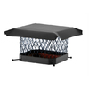 Shelter 9-in x 13-in Black Galvanized Draft King Chimney Cap
