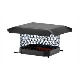 Shelter 9-in W x 18-in L Black Galvanized Steel Rectangular Chimney Cap