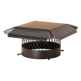 Shelter 14-in W x 14-in L Black Galvanized Steel Square Chimney Cap