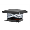 Shelter 13-in x 13-in Black Galvanized Draft King Chimney Cap