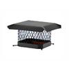 Shelter 15-in W x 15-in L Black Galvanized Steel Square Chimney Cap