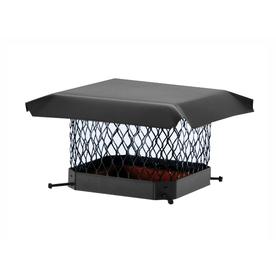 Shelter 18-in W x 18-in L Black Galvanized Steel Square Chimney Cap