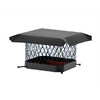 Shelter 18-in x 18-in Black Galvanized Draft King Chimney Cap